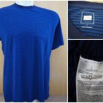 Kaos Gap Stripe Pocket T Shirt Original Blue