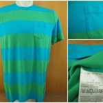 Kaos Gap Stripe Pocket T Shirt Original Blue Green