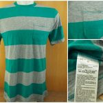 Kaos Gap Stripe Pocket T Shirt Original Tosca Grey