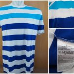 Kaos Gap Stripe Pocket T Shirt Original White Blue