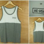 Kaos Singlet Sleeveless American Eagle White-Grey Original